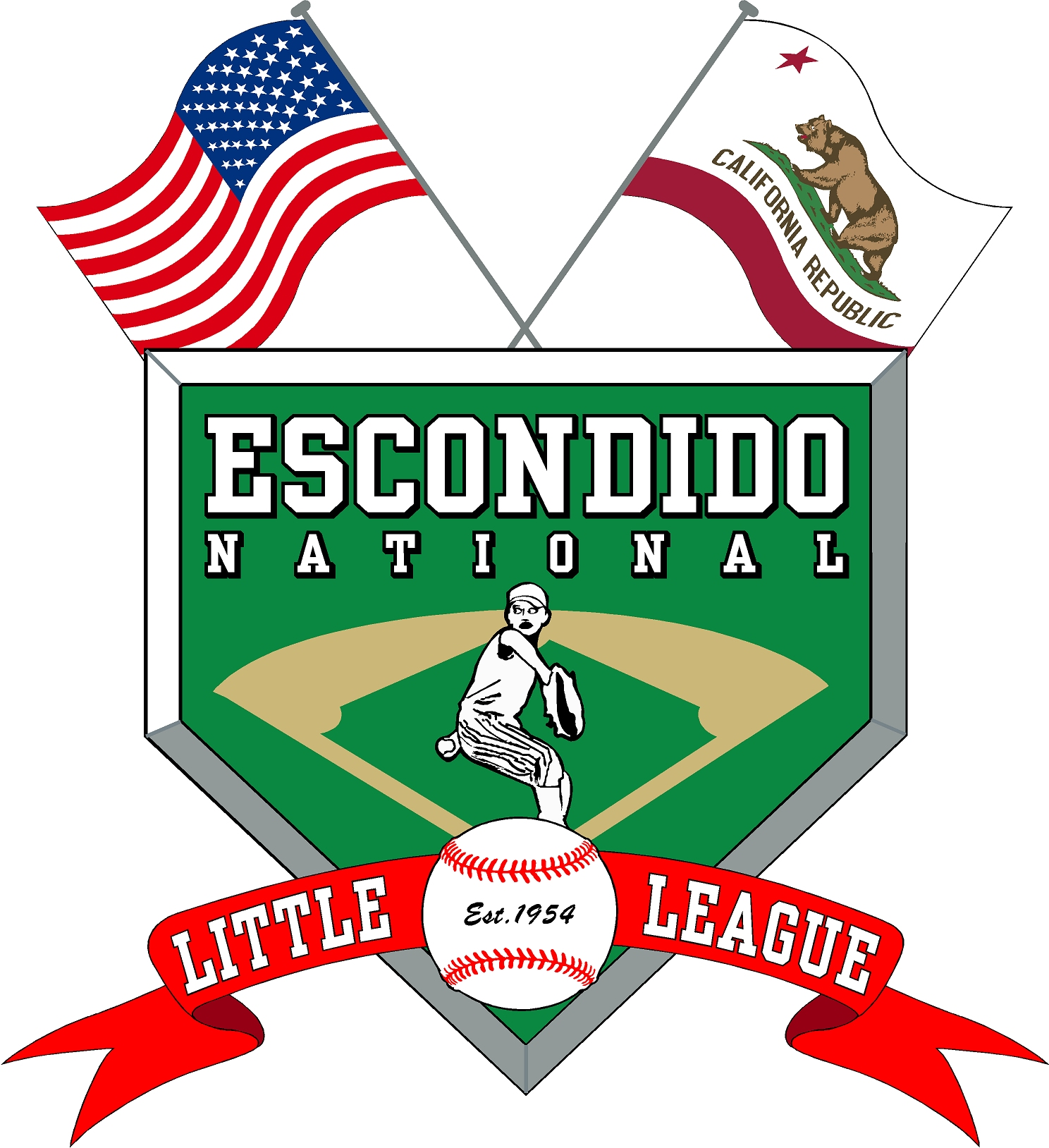 Escondido national little league new  logo